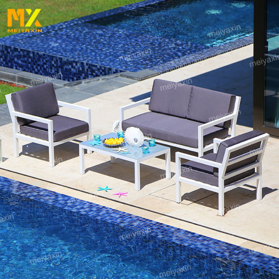 Fashion Outdoor Garden Furniture with Aluminum Frame Simple Style