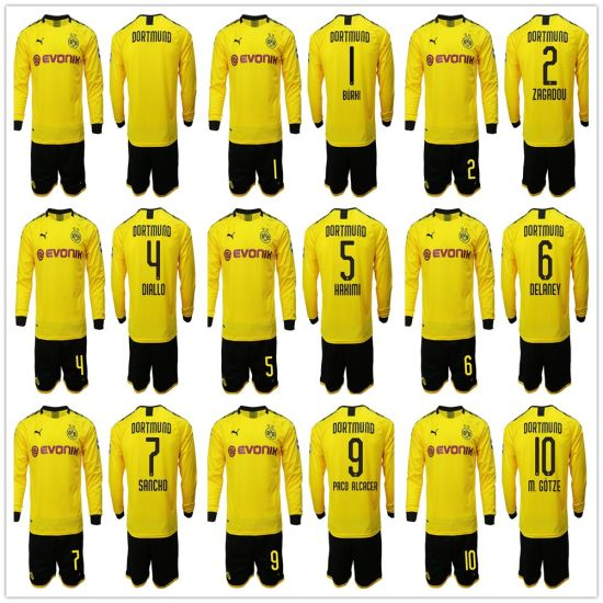 sale retailer b3dbb ec9c7 China Borussia Dortmund Soccer Jersey 2019 2020 Football Kit ...