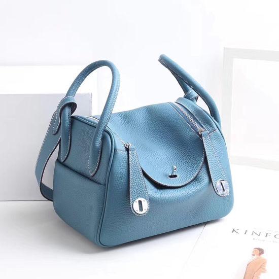 Factory Direct 2019 New First Layer Leather Ladies Lindy Bag European Big Brand Leather Shoulder Messenger Bag Emg5580