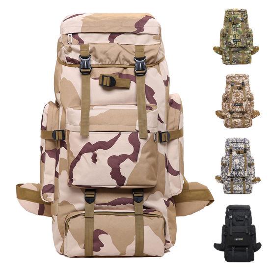 Outdoor Military Backpack Tactical Shoulder Travel Hiking Bag 70L Large Capacity
