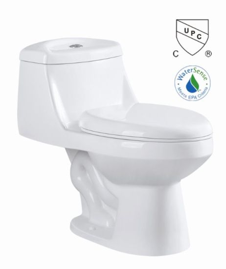 Cupc Bathroom Siphonic Side Optional One Piece Ceramic Toilet