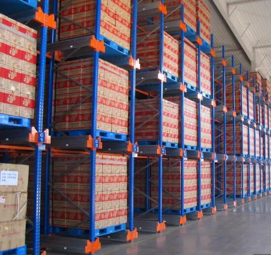 Automatic Radio Shuttle Rack for Warehouse Pallet Rack