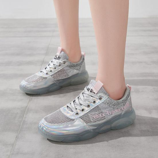 Wholesale Glitter Sneakers Women Brand
