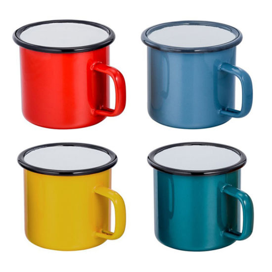 Enamel Camping Mugs 12oz for Cold Hot Beverages pictures & photos