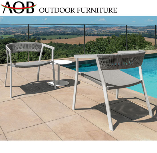 balcony bar and cafe Modern Outdoor Garden Hotel Bar Cafe Furniture Rattan Chair Leisure Balcony Set With Side Table