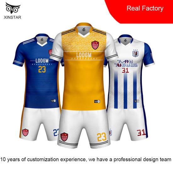 Personality DIY Football Uniform Custom Children's Soccer Uniform Student Sports wear Sublimation Football Uniform Suit Custom