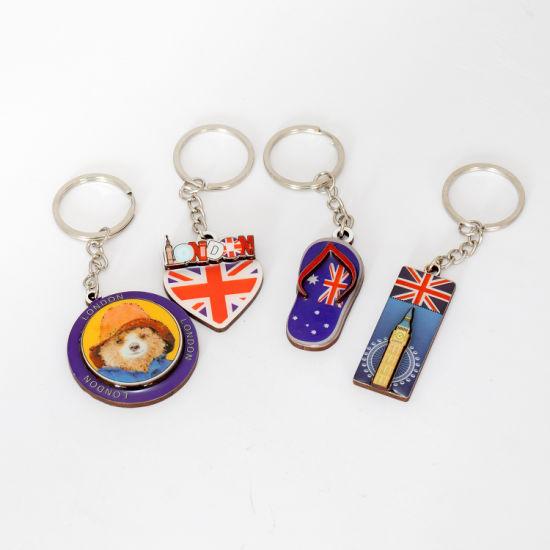 Promotional Epoxy Souvenir Gift Custom Made Key Chain Key Ring