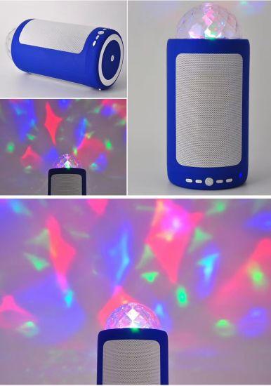 Lxy-M292 New Wireless Bluetooth Speaker Projection LED Karaoke Light MP3 Bass Audio FM Radio Mini Speaker
