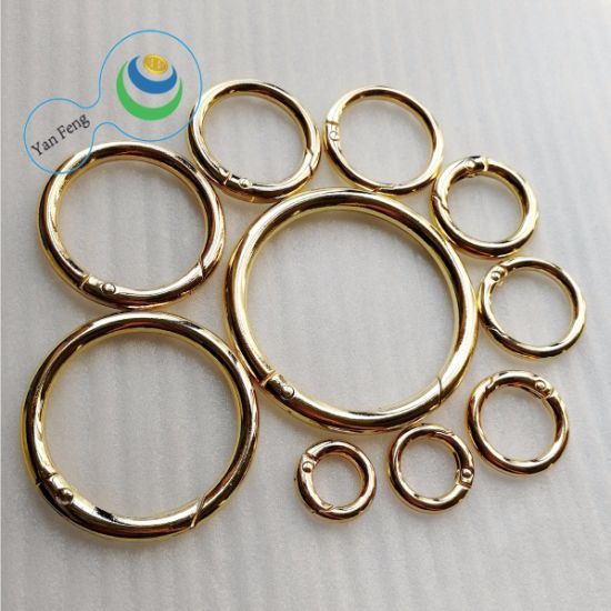 37.5mm Metal Alloy Openable O Ring for Shoes/Handbag/Clothing (YF230-19)