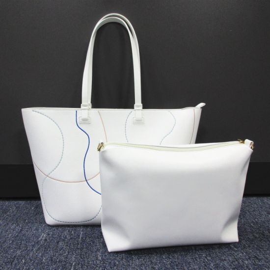 Wholesale Mk Style Reusable Designer Bags Guangzhou Distributor PU Eco Leather Ladies Handbags T6058