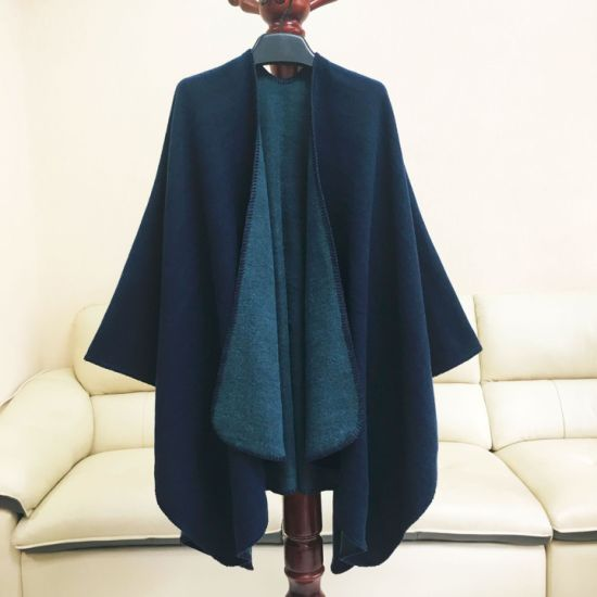 Pure Double-Sided Color Open-Fork Cloak Manufacturer Direct Sales in Winter
