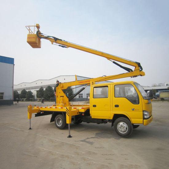 Isuzu Left Hand Drive Hydraulic Boom Lifter Platform Work Vehicle