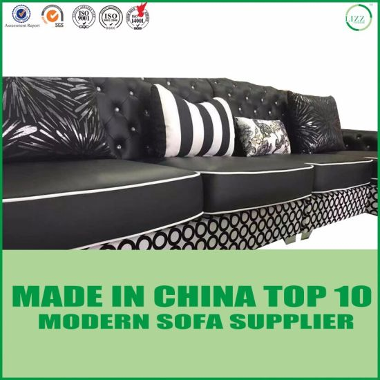 European French Modern Genuine Leather Tufted Sofa pictures & photos
