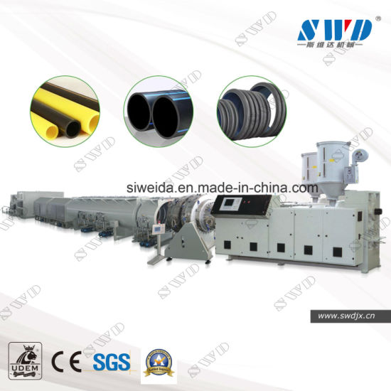 Plastic PE/PVC/PP/PPR Pipe Extruder, Water Gas Supply Irrigation Electric Single Wall Corrugated Pipe|Cable|Tube Extruding|Extruder|Extrusion Making Machine