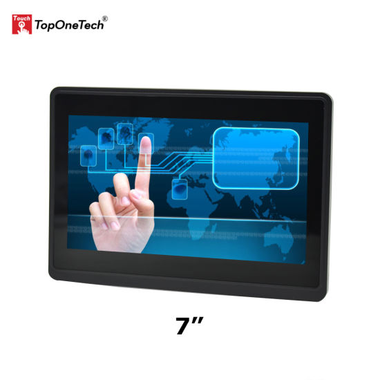 7 Inch Open Frame Pct Capacitive Pcap Multi Multiple Touchscreen Touch Screen Sensor Film TFT LCD HD Display LED Monitor with Dp USB HDMI Interface Port 12V
