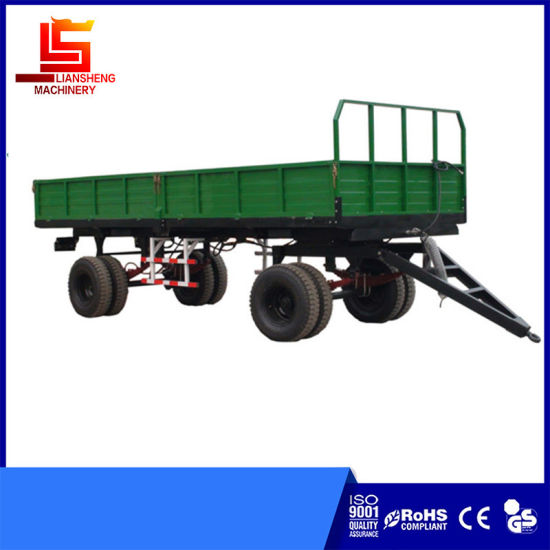 7c Series Double Axles Farm Trailer Tipping Trailer 3sides Dumping Trailer