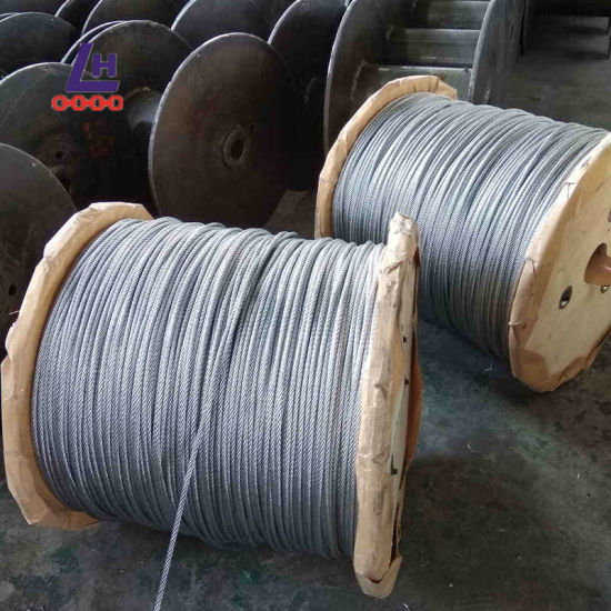 China 3/8′′ Electro Galvanized 7*19 Steel Wire Rope - China Steel ...