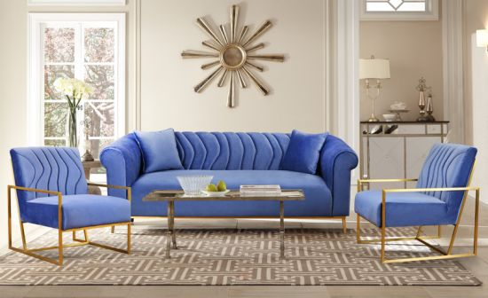 Wholesales Custom OEM/ODM Popular Luxury Modern Classic Design Leisure Living Room Fabric/Genuine Leather/Velvet/Linen Sofa
