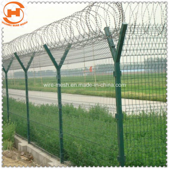 Pvc Coated Security Protected Wire Mesh Fence Garden