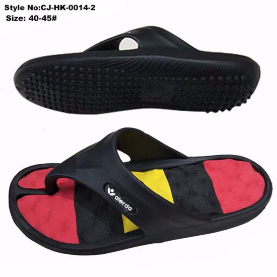 3fbfee08e China Rainbow Color Footbed EVA Men Beach Flip Flop Slippers - China ...