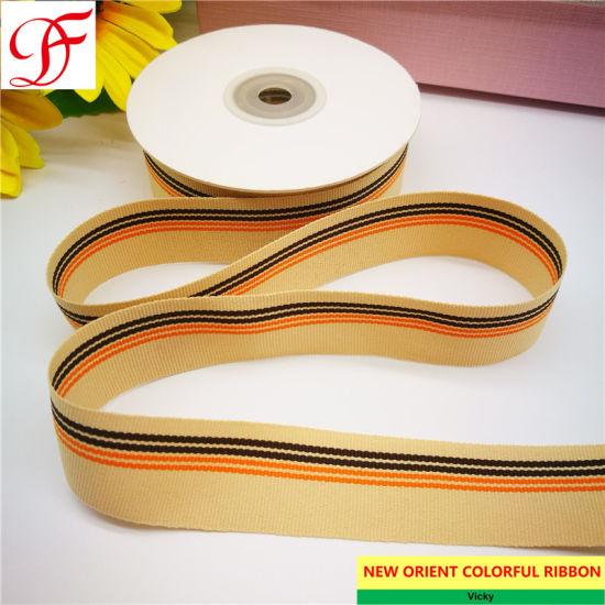 China Good Quality Stripes Ribbon Double Single Face Satin Grosgrain Gingham Taffeta Hemp Satin Center Edge Organza Ribbon With Color Yarns China Stripe Ribbon And Wrapping Ribbon Price