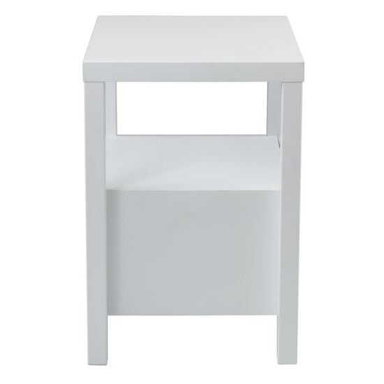 Mirrored Furniture White Painting Bedside Table Wooden Nightstand End Table Bedroom Furniture With 2 Drawer China Mirrored Furniture Bedside Table Made In China Com