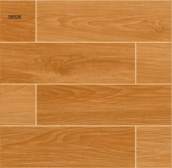 China Four Color Wood Grain Ceramic Floor Tiles For Bedroom China