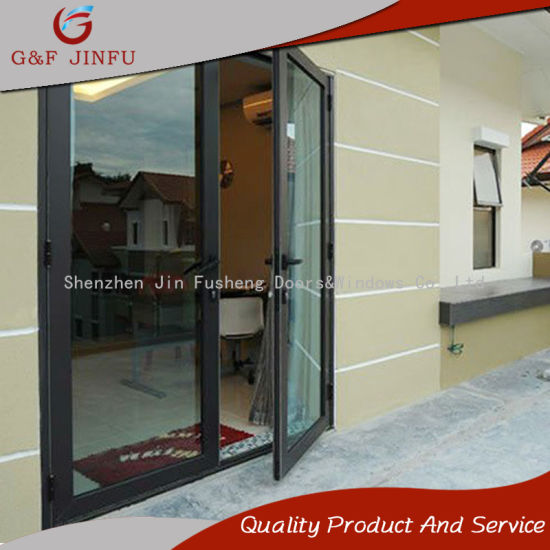 China Cheap Metal Gray Profile Aluminium Casement Entrance Glass