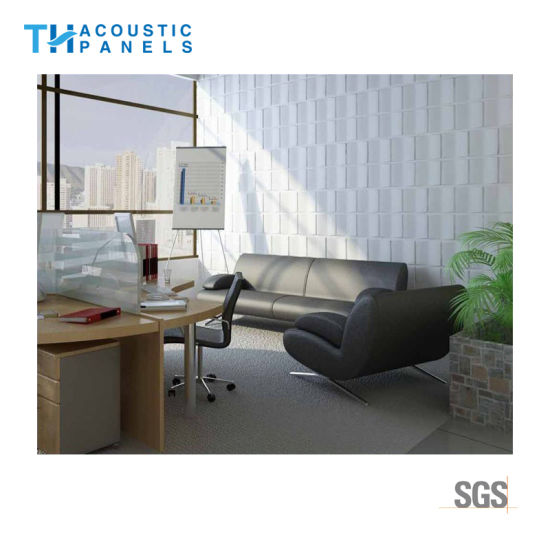 Beau Eco Friendly Polyester Fiber Interior Decorative 3D Sound Absorbing Panel  For Office/Meeting Room