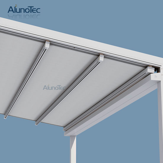 China Remote Control Waterproof Awnings with Metal Frame - China ...