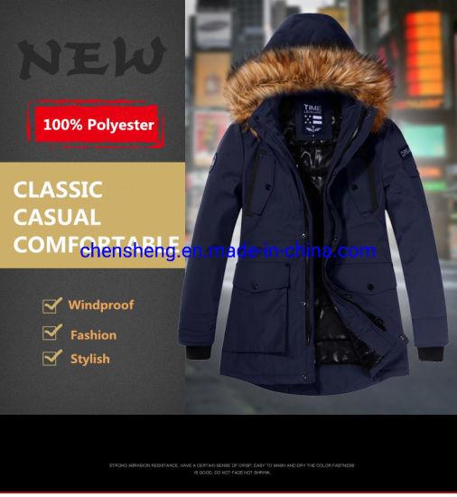 Windproof Hoodies Jackets for Men Outdoor Street Wear Down Coat Men Polyester Zip up Filled Jacket