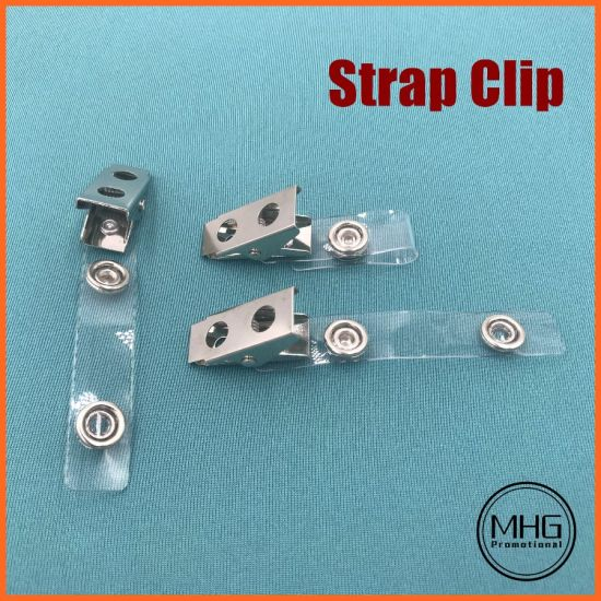 Standard Clear Vinyl Badge Strap Clips