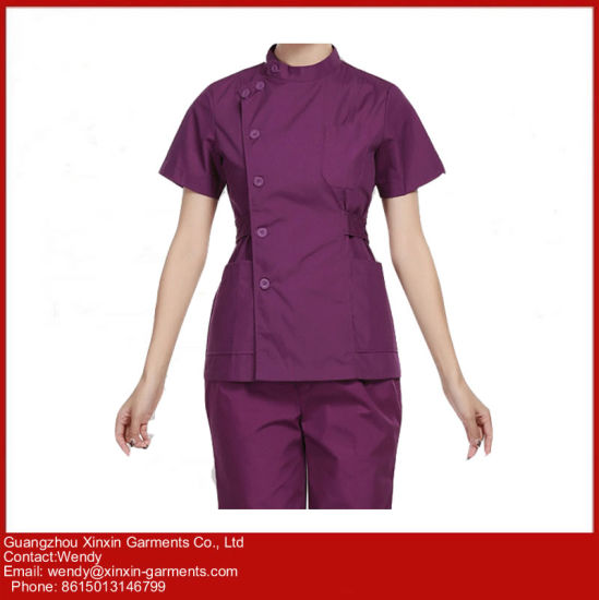 Custom Design Hospital Scrubs Uniform for Medical School Student (H24) pictures & photos