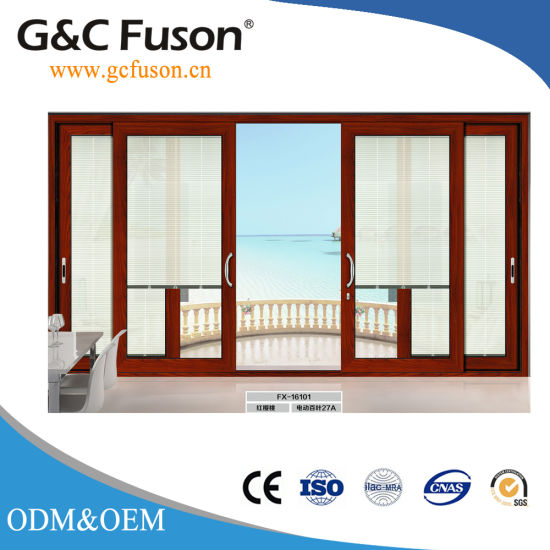 China White Aluminium Frame Sliding Door with Stainless Steel Fly ...