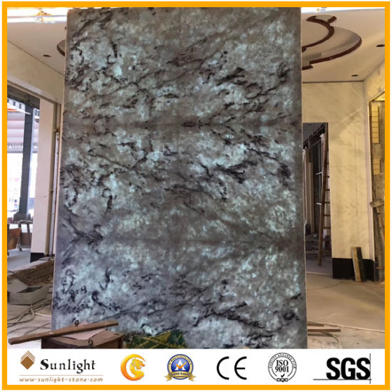 High Quality Blue Ice Onyx Marble Slabs For Background Wall