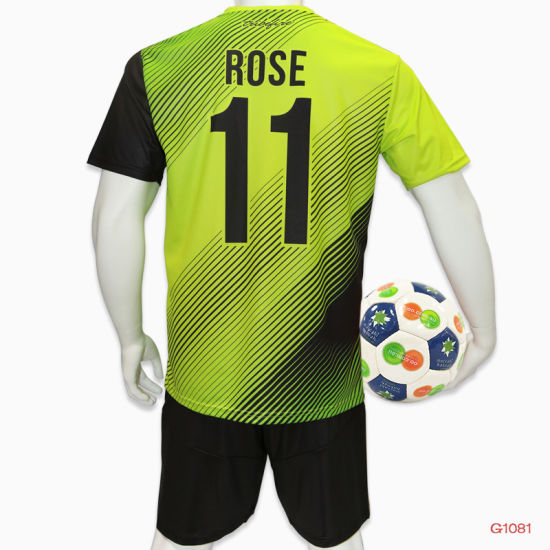 100%Polyester Customized Sublimation Soccer Jersey Football Uniform (Soccer Uniform) pictures & photos