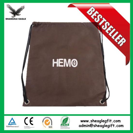 012bb0d60c2b Eco Friendly Non Woven Drawstring Bag with Front Zipper Sports Drawstring  Bag