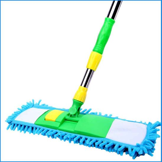 """Flat Mop With 2 Refills Chenille Magic Dust Cleaning For Wet Dry Use Send Tool /"""""""