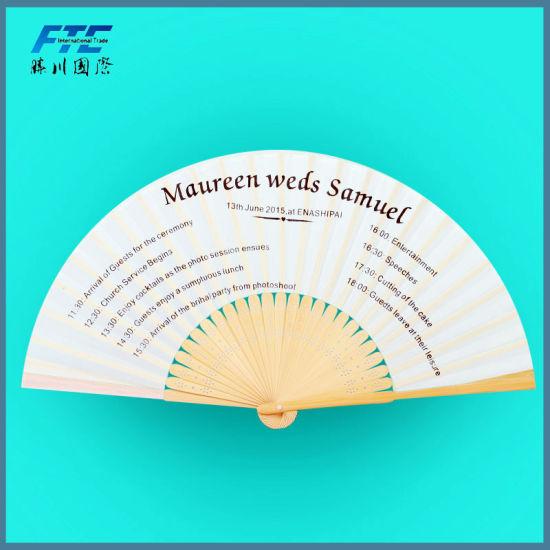 Personalized Silk Hand Fan Custom Printed Folding Hand Held Fans