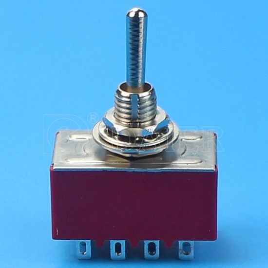 High Quality on-on 4 Position Toggle Switch 220V (MTS-402) pictures & photos