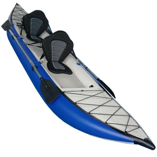 Wholesale Pvc Pontoon Kayak 2 Persons Inflatable Fishing Boat