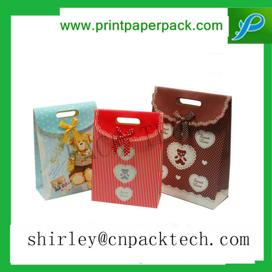 Gorgeous Customized Bear Pattern Birthday Gifts Party Packaging Bag Pictures Photos