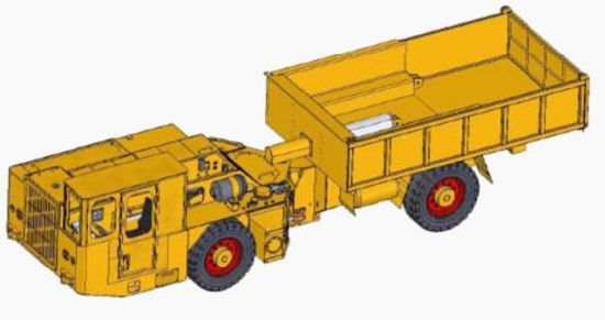 Flame Proof Dumper Truck 8 Tons