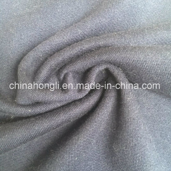 Solid French Terry CVC 52/48, 320GSM Knitting Fabric for Sweater with Good Quality