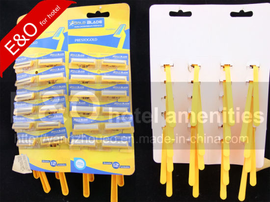 Disposable Display Card Package 2 Layers Blades Shaver Razor