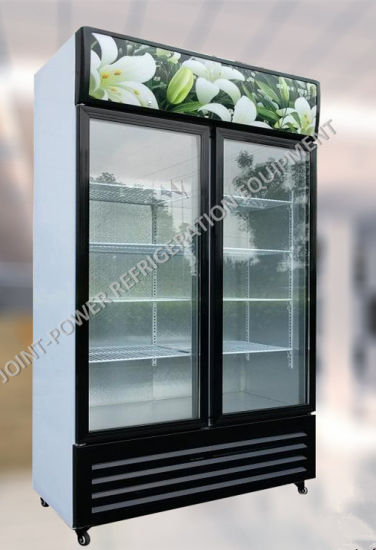 China Best Price Fan Cooling Glass Door Fridge Voltage 220v Cold