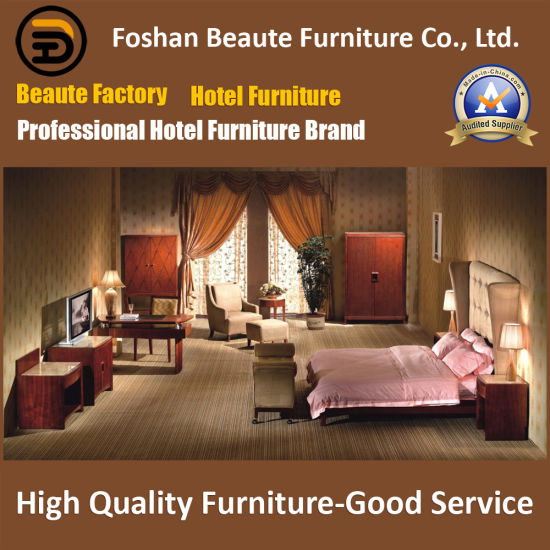 Hotel Furniture/Chinese Furniture/Standard Hotel King Size Bedroom Furniture Suite/Hospitality Guest Room Furniture (GLB-0109828) pictures & photos