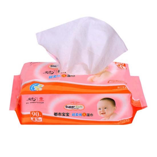 90PCS Thick Nonwoven Baby Wipes Super Market Good Sales Wet Wipes Supplier pictures & photos