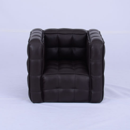 Single Seat PU Leather Black Kids Chair/ Children Furniture