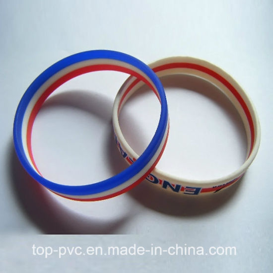 High Quality Plastic Gift Promotional 3D Silicone Bracelet (SB-010) pictures & photos